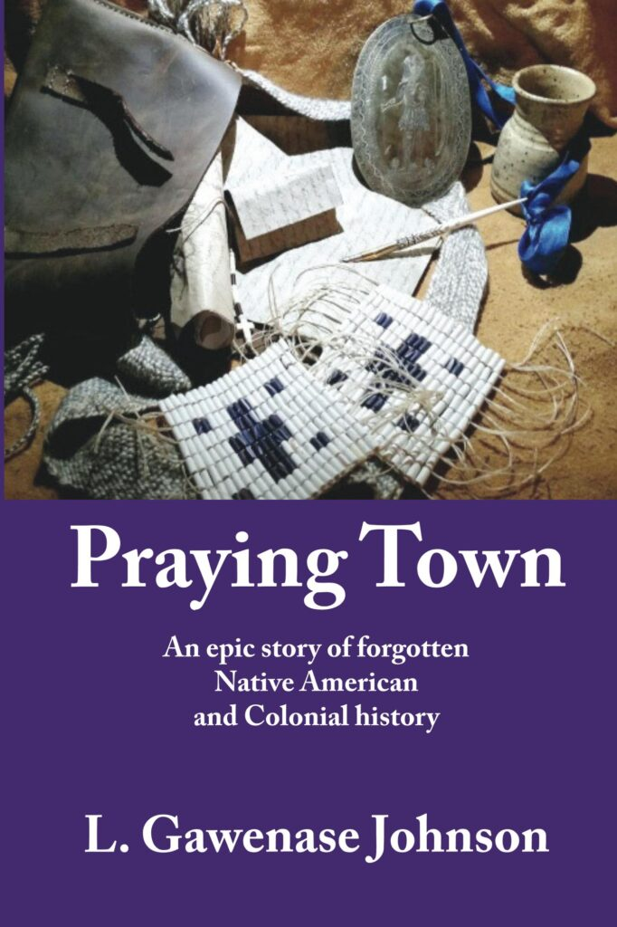Praying Town Cover with historical artifacts, wampum, peace medallion