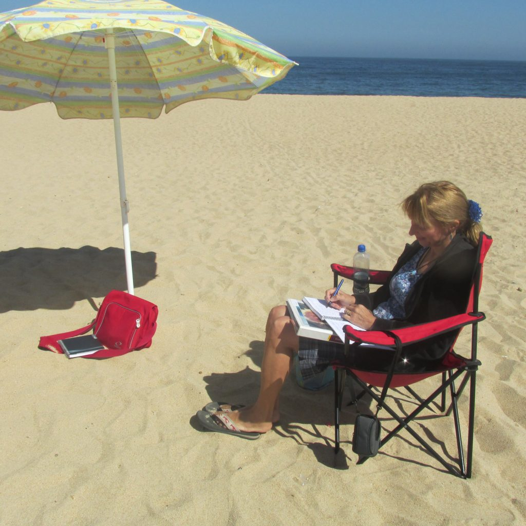 Diana Delacruz on the beach